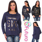 Ladies Casual Loose Fit Top Long Sleeve Pullover Cowl Neck Slip-On Blouse FZ84