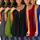 Women Solid Sleeveless Pleated T-Shirt Large Size S-5XL Plain Tank Tops Summer B