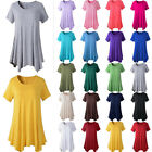 S-5XL Womens Summer Short Sleeve Blouse Casual Loose Swing Tunic T-shirt Tops US