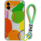 Cartoons Cute Color Love Weave Lanyard Phone Case For iPhone 11 12 Pro Max Mini