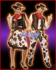 FUN COMBO - COWGIRL & COWBOY 2 FANCY DRESS COSTUMES