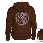 Ying Yang Dragon Hoodie Japanese asian oriental yinyan