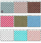 "POLYESTER COTTON BLEND CLOTHES DRESS FABRIC 4MM POLKA DOT DOTTY ""25 VARIES"" 44'W"
