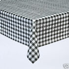 BLACK GINGHAM VINYL Plastic Patio Table Protector Cloth