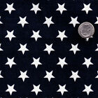 COTTON UPHOLSTERY CRAFT APRON FABRIC STAR DOT BLUE RED