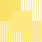 "CHAMBRAY YARN DYED 100% COTTON CLOTH FABRIC STRIPE GINGHAM CHECK YELLOW 44""W BTY"