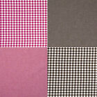 "CHAMBRAY YARN DYED COTTON CLOTHES FABRIC GINGHAM CHECK MELANGE BROWN PINK 44""W"