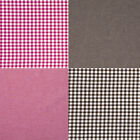 """CHAMBRAY YARN DYED COTTON BED CLOTH FABRIC CHECK FROSTY MELANGE BROWN PINK 44""""W"""