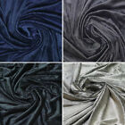 SOFT MINKY CHENILLE FLEECE BABY BLANKET FAUX FUR FABRIC 5MM PILE SOLID BLACK 60""
