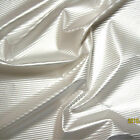 SHINY FETISH VINYL PLEATHER FABRIC PEARL EFFECTS WHITE