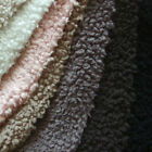 "SOFT MINKY MINKEE CHENILLE FAUX LAMB WOOL CUDDLE SOLID PLAIN FABRIC DTY 60""WIDE"