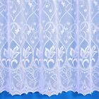 ZOE JACQUARD NET CURTAIN IN WHITE. SOLD BY THE METRE