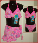 BIKINI 3 pc Girls SWIMWEAR BATHERS / TOGS  Sz 4 5 6 & 7