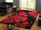 Quality Wool Handtufted Rug Red Black in Various Sizes