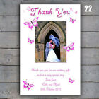 Butterfly Wedding Thank You Cards Any Colour