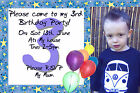 Boys Photo Personalised Birthday Party Invitations