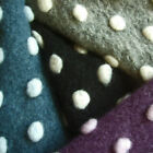 COUTURE BOUTIQUE WOOL CHENILLE FABRIC DIMPLE RAISED EMBO DOT BLACK GREY VIOLET