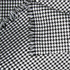 ACRYLIC CLOTH UNIFORM SKIRTS JACKET TIE FABRIC HOUNDSTOOTH CHECK BLACK WHITE 44'