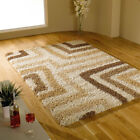Shaggy Quality White Beige Rug Carpet in Various Sizes