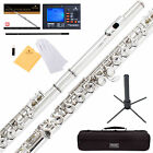 NEW NICKEL SILVER SCHOOL BAND STUDENT C FLUTE w Split E