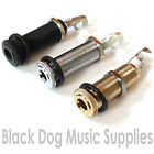 Quality Long Socket Guitar Jack Input chrome black gold