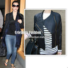 jp2 Celebrity Style Biker Asymmetric PU Leather Jacket
