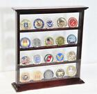 20 Double Sided Challenge Coin Display Case Holder Rack 98% UV