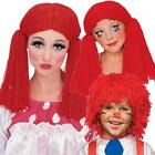 Rag Doll Wig toy Ann Andy red yarn dress up costume fun stage performance hair
