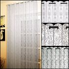 LACE NET CURTAIN LOUVRE BLINDS - AVAILABLE IN 3 DESIGNS - WHITE OR CREAM