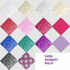 PAPER BANQUET ROLL 14 COLOURS-DAMASK KRAFT QUALITY TABLE COVER TABLECOVER