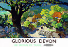 TT87 Vintage Glorious Devon Railway Travel Poster A3 A2