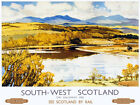 TU18 Vintage South West Scotland Galloway Travel Railway Poster Print A3 A2