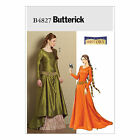 Butterick 4827 Sewing Pattern to MAKE Medieval Gown Optional Train & Underskirt
