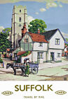 TU47 Vintage Suffolk LNER Railway Travel Poster Print A2/A3