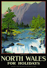 TU58 Vintage North Wales Aberglaslyn LMS Railway Travel Poster Print A2/A3