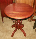 Round Mahogany Parlor Table Lamp Table  (T195)