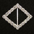 "Diamond 1 3/8"" Swarovski Buckle (Free Shipping) Rhinestone Diamond Slider"