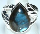 Labradorite Gemstone Chunky, Unique 925 Sterling SILVER Rings Ring NEW Jewellery
