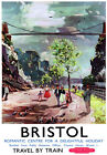 TU72 Vintage Romantic Bristol British Railways Travel Poster Re-Print A2 A3