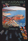 AV29 Vintage 1911 Monte Carlo Rally Monaco A3 Advertisment Poster Art Print