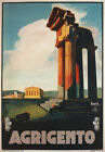TW07 Vintage 1928 Agrigento Sicily Italian Italy Travel Poster A2/A3