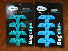 CHEF AID BAG CLIPS X 4 PLASTIC FOOD BAG CLIPS FOR HOUSEHOLD USE
