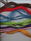 VELVET  CORD NECKLACES X 10 APPROX 47 CM LONG PLUS CHAIN