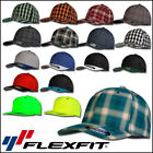 FLEXFIT CAP FLEX FIT KAPPE NEW PLAID 2-TONE NEON PINSTRIPE BASECAP BEANIE