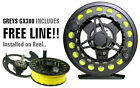 FLY REEL GREYS GX300 6/7/8 , TROUT FISHING *FREE LINE FITTED*