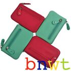 New Quality Pink Teal Oran Leather Coin Purse Wallet