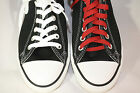 MEN'S Converse Chuck Taylor All Star Black Lo Tops with 2 pair of laces