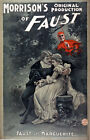 M44 Vintage Faust Theatre Theatrical Magic Poster Re-Print A4