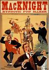 M55 Vintage MacKnight Hypnotist Hypnotic Fun Theatre Poster Re-Print A4