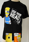 BART USE YOUR HEAD NERA T-SHIRT ORIGINALE 100% TUTTE LE TAGLIE